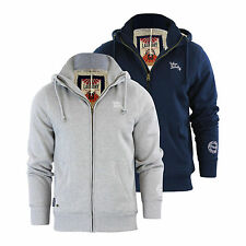 Mens Hoodie Tokyo Laundry Kinoosao Sherpa Lined Zip Up Hooded Jumper Sweater