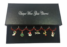 Magical Christmas Wine Glass Charms - 3 Different Gift Options - FREE P&P