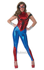 Adult Sexy Marvel Superhero Spidergirl Ladies Fancy Dress Costume Party Outfit