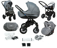 Baby Pram Stroller Buggy Pushchair Travel System Adamex Pajero Ecco Linen 20lc