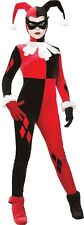 Harley Quinn Fancy Dress Costume Ladies Red TV and Film Costumes