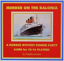 HOST A 1930's MURDER MYSTERY DINNER PARTY GAME ~ for 12-16 players