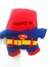 Small Pet Dog clothes Chihuahua coat red dog jumper outfit superman outfit XL
