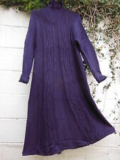 "HEART LONG FRINGED CARDIGAN PURPLE 40"" - 42"" BUST BNWT LAGENLOOK ETHNIC"