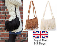 Ladies Women's Fringe Messenger Shoulder Tassel Bag Tote Handbag Crossbody Bag