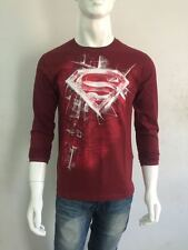 NEW ARRIVAL Superman T-shirt - Full Sleeve - DARK RED