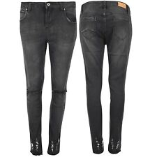 Ladies Destroyed Ankle Ripped Distressed Jean Womens Denim Cut Out Pants Trouser