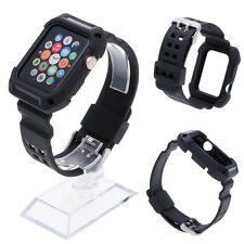 Silicone Replacement Sport Band Bracelet Strap For Apple Watch iWatch 1/2 42mm