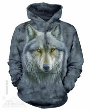 Warrior Wolves Wolf Head Face The Mountain Pullover Hoodie Sweatshirt Jacket