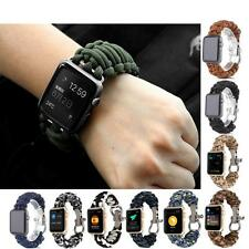 Sport Nylon Loop Stainless Steel Watch Band iWatch Strap For iWatch 38/42mm