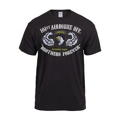 Black Ink Distressed US Army 101st Airborne Air Assault Brothers Forever Tshirt