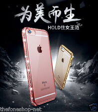 Electroplated Bumper Transparent Tpu Back Cover case for Apple iPhone 6, 6 PLus