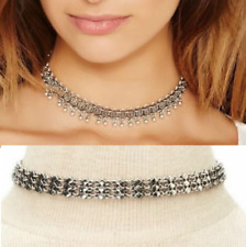 Art Deco Gothic Tibetan Silver 2 Designs Choker Collar Boho Necklace UK Seller