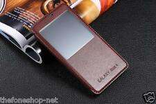 VIEW Windows Leather Flip Case Stand Cover case Skin For Samsung Galaxy Note 4