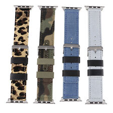 Cowboy Leather Strap Wrist Watch Band Replacement For iWatch Apple Watch 38/42mm