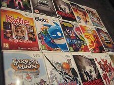 Nintendo Wii GAMES SELECT -> BUNDLE JOBLOT of RARE / COLLECTABLE - Mario etc A-K