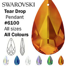 Swarovski Tear Drop Pendant, all sizes & colours, Swarovski Crystal 6100