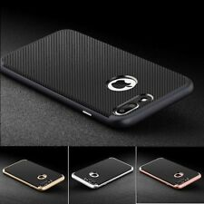 Hybrid Shockproof Carbon Fiber TPU Silicone Case Cover for iPhone