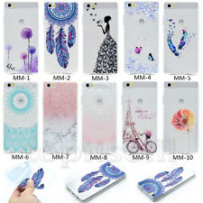 Fashion Ultra Slim Patterned Clear Back TPU Silicone Gel Rubber Back Case Cover