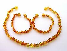 Genuine Baltic amber necklace or bracelet anklet for child, honey baroque beads