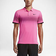 NIKE RF NIKECOURT ADVANTAGE MENS TENNIS POLO ROGER FEDERER PINK 801696 639