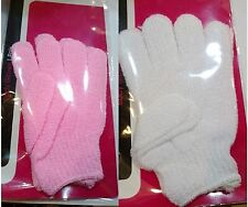 Face Body Bath Shower Massage Scrub Exfoliating Gloves