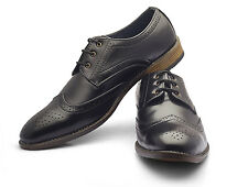 Ferrer Men's Formal Brogue Black Shoes - FERBK1FBRO11