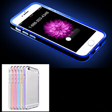 LED Flash Light UP Remind Incoming Call Luminous Cover Back Case For iPhone