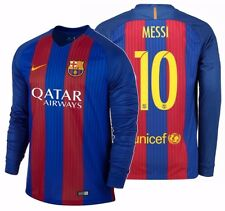 NIKE LIONEL MESSI FC BARCELONA LONG SLEEVE HOME JERSEY 2016/17 QATAR.