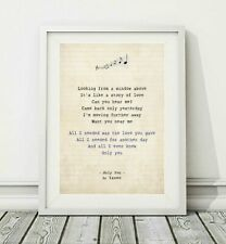 027 Yazoo - Only You - Song Lyric Art Poster Print - Sizes A4 A3
