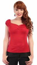 Collectif Dolores 1950s Vintage Style Red Gypsy Top