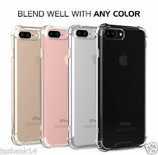 Clear Shock Absorption TPU Bumper Soft Back Case Cover For Apple iPhone 7 7 Plus