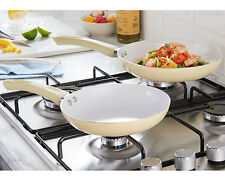Set of 6 Ceramic Pans Saucepans Frying Pans Kitcken Cooking Dinner Value Healthy