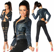 Sexy Women's Stylish Wash Cropped Jacket / Jeans Skinny Slim Low Waist Y 403