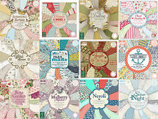 First Edition manualidades papel 6x6, 8x8 completa pack or sencillo hojas