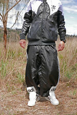☆—Adidas—Shiny—Nylon—Tracksuit—Pants—Unlined—Bottoms—Cal Surf—Silky—Glanz—Baggy