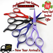 Professional Hairdressing Hair Cutting Barber Scissors Beautiful MultiColour 5.5