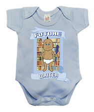 BritTot Baby Grow Future WRITER Funny Boys Book novel Vest Baby Shower