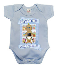 BritTot Baby Grow Future PHOTOGRAPHER Funny Photography Vest Baby Shower