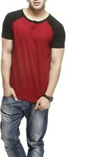 Men's Henley Button Front Cotton half sleeve T-Shirt