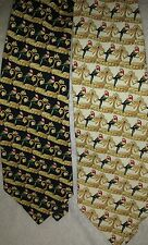 MENS SILK TIE PARROT LOVER GIFT SCARLET MACAW  BLACK GOLD VALENTINE FATHERS DAY