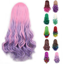 Nice New Cosplay Full Head Ombre Wig Long Wavy Hairpiece Gradient Wig Short Hair