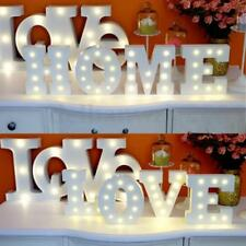 Wooden/ABS LED Letter Light Lamp Decor Sign Marquee White Letters f/ Party