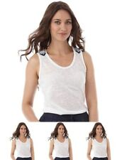 "OFFERTA Brave Soul Womens Indiana Vest Off White UK 8 Euro 34 Bust 32"" Size XS"