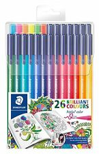 Staedtler Fibre Tip Pens-Triplus 26 or 32 Brilliant Colours/NewColours/1.0mm/Art