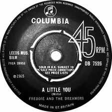 """Freddie And The Dreamers*-A Little You 7"""" 45-EMI Columbia, DB 7526, 1965, Plain"""