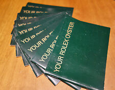 YOUR ROLEX OYSTER Libretto Booklet 2000-2001-2002-2003-20005-2006-2008