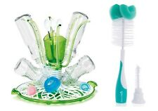 Munchkin Sprout Baby Bottle Drying Rack *AND* Munchkin Bottle & Teat Brush