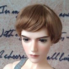 "7-8"" Brown Synthetic Mohair Wig for 1/4 MSD Doll BJD Girl Boy Dollfie"