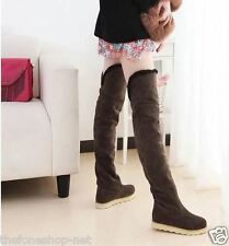 High Winter Snow Flat Knee Length Boots Shoes For Women/Girls - Size 39